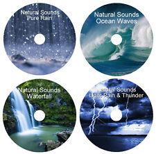 NATURAL SOUNDS RELAXATION DEEP SLEEP STRESS RELIEF HEALING 4 CD CALMING NATURE