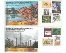 Trinidad & Tobago Commemorative Cover Oil Refinery Closure 1917-2018 Set of Four
