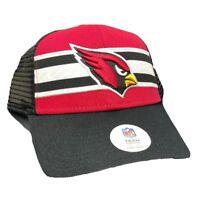 Arizona Cardinals NFL Football Team Stripe MVP OSFA Snapback Trucker Hat Cap NEW