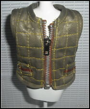 TOP BARBIE DOLL MILLICENT ROBERT GOIN TO THE GAME QUILTED LINED ZIP VEST JACKET