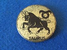 Vintage Button Badge - Taurus - Zodiac