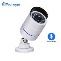 Techage 1080P 48V 2.0MP IP Surveillance Home Security POE HD CCTV Audio Camera