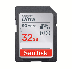 New 32GB SanDisk Ultra SDHC SD Memory Card Reading Up to 90MB/s UHS-I U1 #771
