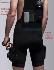 YKYWBIKE Men Cycling Bib Shorts Lycra fabric MTB Road Bike 4 Pocket Bicycle Pads
