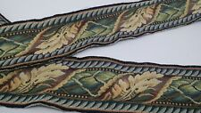 "3Y GORGEOUS BRUNSCHWIG & FIL 3 1/4"" LEAF TAPESTRY BORDER DRAPERY UPHOLSTERY TRIM"