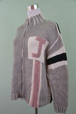 JOHN ROOSE Mens Vtg Retro Warm Soft Winter Thin Knit Zip Cardigan sz S/M H58
