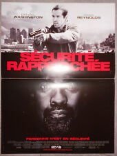 Affiche SECURITE RAPPROCHEE Safe House DENZEL WASHINGTON Ryan Reynolds 40x60cm