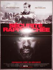 Affiche SECURITE RAPPROCHEE Safe House DENZEL WASHINGTON Ryan Reynolds 40x60cm