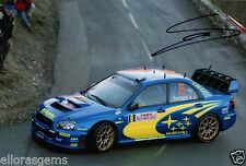 "Rally Driver Stephane Sarrazin Hand Signed Photo Subaru Impreza WRC  12x8"" AA"