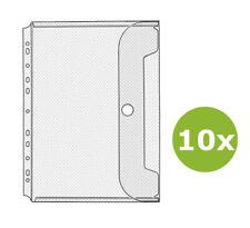 10x Veloflex Prospekthülle Jumbo Crystal Sichthülle mit Klettverschluss DIN A4