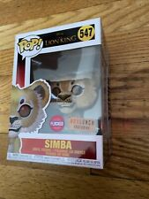 Simba Flocked #547 The Lion King Funko Pop Figure Box Lunch Exclusive D2