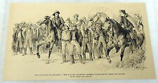 1889 magazine engraving ~ OCCUPATION OF OKLAHOMA--MILITARY + CLAIM-JUMPERS