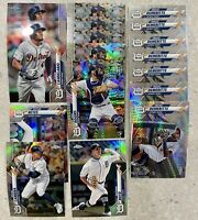 2020 TOPPS CHROME 17x TIGERS DEMERITTE ROGERS CABRERA BOYD REYES REFRACTOR PRISM