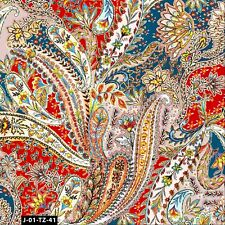 Colorful Floral in Paisley Printed 100% Cotton Quilting Fabric by the Yard