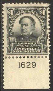 U.S. #311 Mint - 1902 $1.00 Farragut ($600)