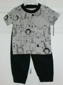 BOYS SZ 12 MONTHS 2 PC SET-SHORT SLEEVE TEE SHIRT/PANTS by CARTER'S-NWT'S