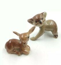 Vintage Porcelain Miniature Mini Baby Deer Fawn Forest Koala Bear Bug House?