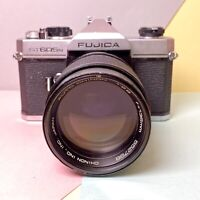 FUJICA ST605N 35mm Film SLR Camera W/ 135mm F2.8 Prime Portrait Lens, Lomo Retro