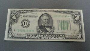 1934 50 Dollar Star Note