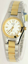 Casio Ladies Silver Gold Stainless Steel Quartz Dress Watch LTP-1253SG-7A New