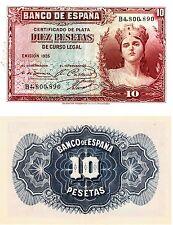 FB30 BILLETE ESPAÑA 10 PESETAS EMISION 1935 SIN CIRCULAR-