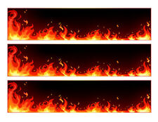 Flames edible cake strips cake wraps decorations