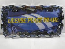 TRIBAL METAL LICENSE PLATE FRAME FLAME FIRE CHROME L433