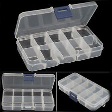 Generic Empty Storage Case Box 10 Cells for Nail Jewelry Art Tips Gems Practical