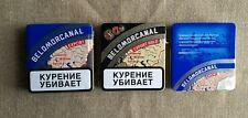 Metal cigarette case box Belomorkanal USSR, Russia+18 new roll paper Belomorkana