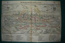 Poitiers, poitou-charentes, vienne, sebastian Münster Gravure sur bois de 1588