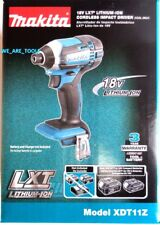 "NEW IN BOX Makita 18V XDT11Z Cordless 1/4"" Impact, Driver, Drill 18 Volt LXT"