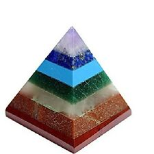 Multi-Stone Pyramid 7 Chakra Energy Generator Reiki Healing Spiritual Egyptian