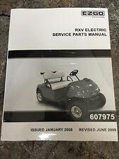 Ez Go Golf Cart Part RXV Electric Service Parts Manual 607975