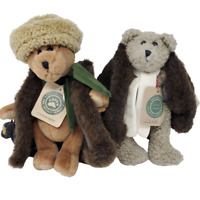 Boyds Vintage Aunt Bessie and Skidoo Plush Retired Bears 1990's