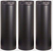 "3 IMPERIAL BM0111 6"" Dia. x 24"" Long BLACK STOVE PIPE 24 Gauge Single Wall Steel"