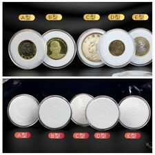 10 Coin Capsule Case For 17-41mm Cent Penny PENNIES Quarter Adjustable Ring