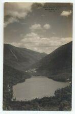 NH ~ RPPC Echo Lake Scene FRANCONIA NOTCH New Hampshire c1910 White Mountains