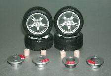 1/18 Scale Miniature Tire Set with Porsche Boxster Wheels - Diorama Accessories