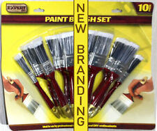 10 Piece Paint Brush Set with Fine Tipped Nylon Bristles