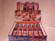 12 pack Fire Engine Trucks 1:50 Kinsfun 5 inch Emergency Rescue Hook and Ladder