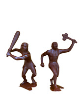 Caveman Cave People Toys Miniatures Figures War Game Doll 150 mm Set 2 PCS NEW