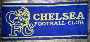 Chelsea FC Old Design Blue / Yellow Cotton Bar Towel  480mm x 230mm (pp)