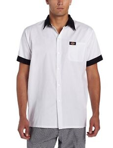 Dickies Work Shirts Unisex Short Sleeve With Pearl Button Shirt XS-5XL DC126