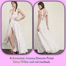 🌹 REFORMATION🌹ARIANNA-White/red Rose Buds ( Sweetie Print) Dress $328