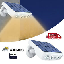 New LED Waterproof Solar Power PIR Motion Sensor Wall Light Outdoor Garden Lamp