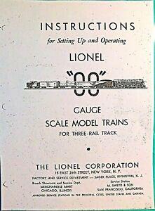 "LIONEL"" OO "" GAUGE  INSTRUCTION 6 PAGE 3 RAIL TRACK - COPY OF ORIGINAL"