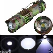 2000 Lumen Con Zoom CREE Q5 LED 3 Modalidades Linterna Zoom Luz Luz Aire Libre