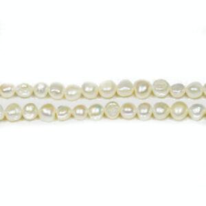Pale Cream Freshwater Pearl Beads Baroque Potato 4-6mm Strand Of 65+