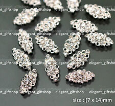 10pcs 3D Hollow Alloy Jewelry Glitter Rhinestone Nail Art Tips Decoration #EA029