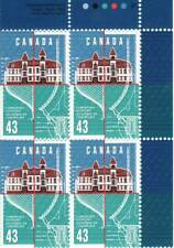EXTREMELY RARE Canada plate block #1558 (T1) - Lunenburg Academy (1995) 43¢ -...